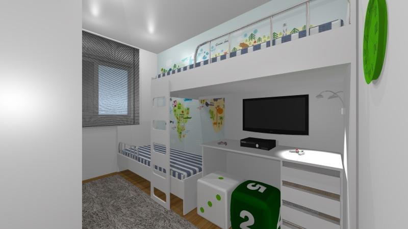 Dormitório Planejado Casal Quarto Pequeno Santo André - Dormitório Planejado