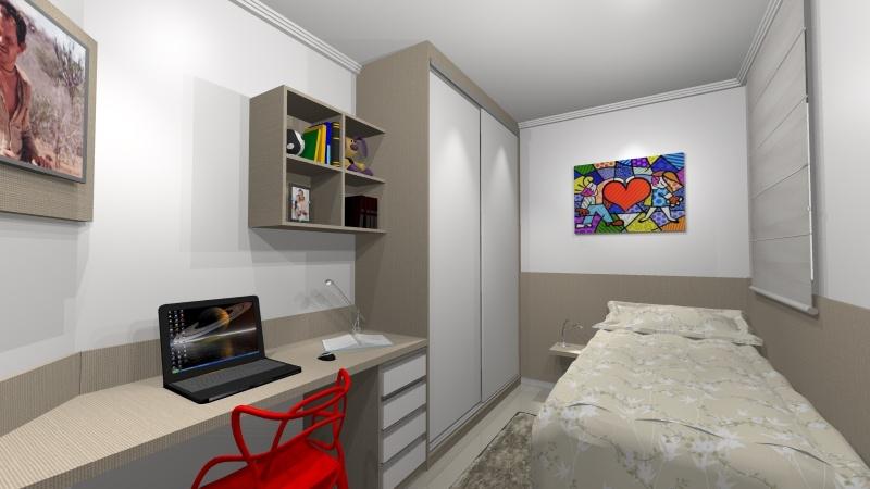 Dormitório Planejado Preço Santo André - Dormitório Planejado Casal Pequeno