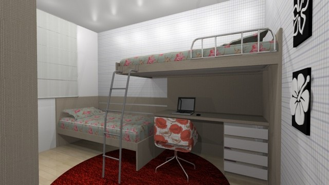 Dormitórios Planejados Solteiro São Bernardo do Campo - Dormitório Planejado Apartamento