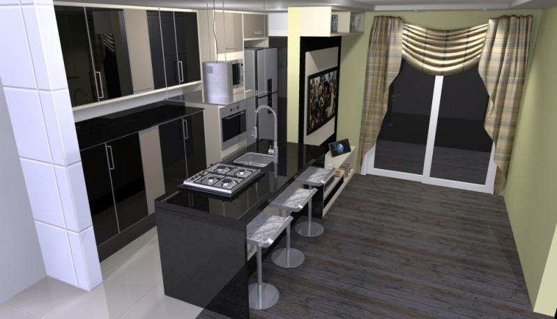 Onde Encontro Ambientes Planejados Cozinha Americana Santo André - Ambientes Planejados Cozinha Americana