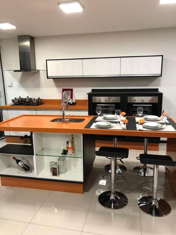 Cozinha Planejada para área de Lazer Preço Diadema - Cozinha Planejada Branca