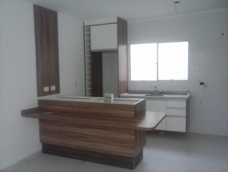 Cozinha Planejada para Casas Preço São Caetano do Sul - Cozinha Planejada Branca e Madeira