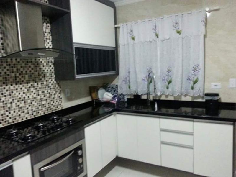 Cozinha Planejada para Sobrado Preço Santo André - Cozinha Planejada Branca e Madeira