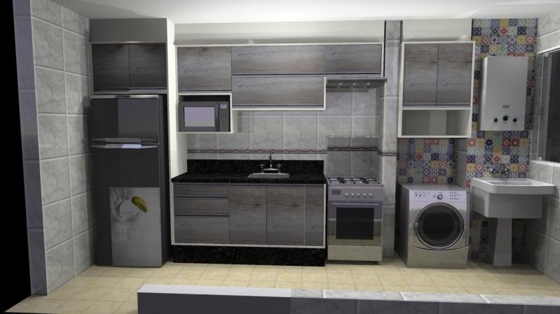 Cozinha Planejada para Sobrado Diadema - Cozinha Planejada Branca e Madeira