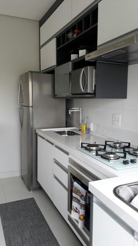 Cozinhas Planejadas para Casas Pequenas São Bernardo do Campo - Cozinha Planejada Branca