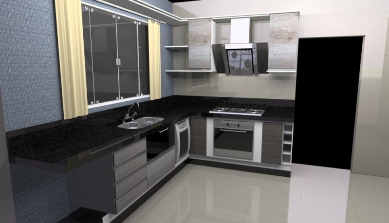 Cozinhas Planejadas para Casas São Caetano do Sul - Cozinha Planejada Branca e Madeira
