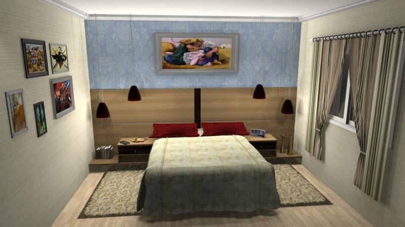 Dormitório Planejado de Casal Santo André - Dormitório Completo Planejado Casal
