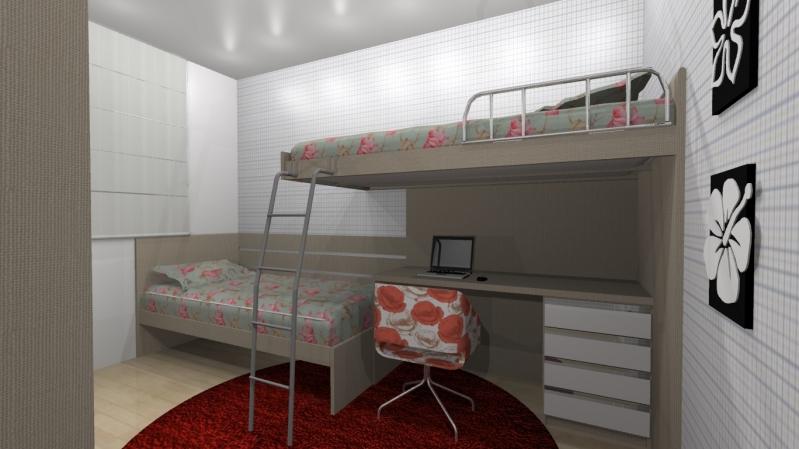 Dormitórios Planejados Solteiro Santo André - Dormitório Planejado Casal Quarto Pequeno