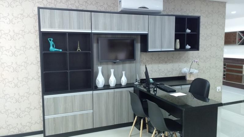 Móveis Planejados para Recepção Valor São Paulo - Móveis Planejados para Escritório de Luxo