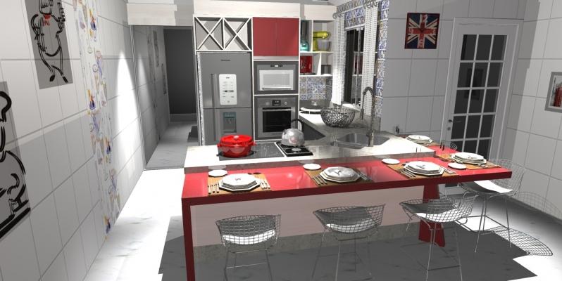 Quanto Custa Cozinha Planejada para Apartamento São Bernardo do Campo - Cozinha Planejada para área de Lazer