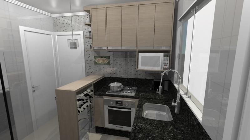 Quanto Custa Cozinha Planejada para Apartamentos Pequenos Santo André - Cozinha Planejada Branca