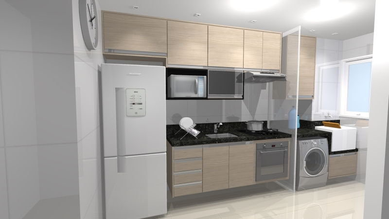 Quanto Custa Cozinha Planejada para Cozinha Pequena São Paulo - Cozinha Planejada Branca e Madeira