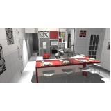 cozinha planejada branca São Bernardo do Campo