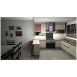 cozinha planejada para espaço pequeno preço Santo André