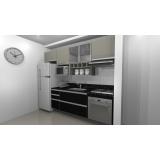 cozinhas planejadas para cozinhas pequena São Bernardo do Campo