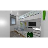 dormitório planejado casal quarto pequeno São Caetano do Sul